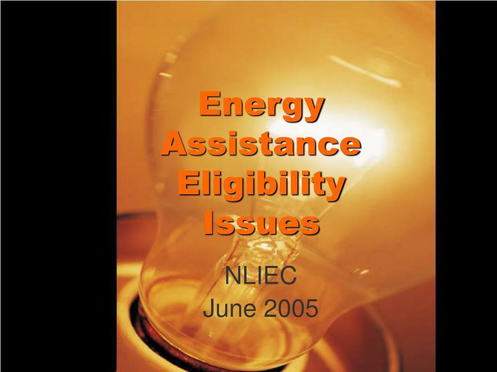 Energy Assistance Eligibility