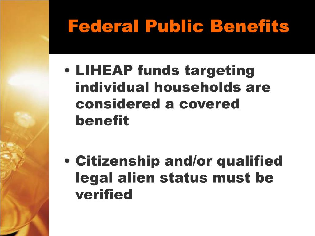 Federal Public Benefits