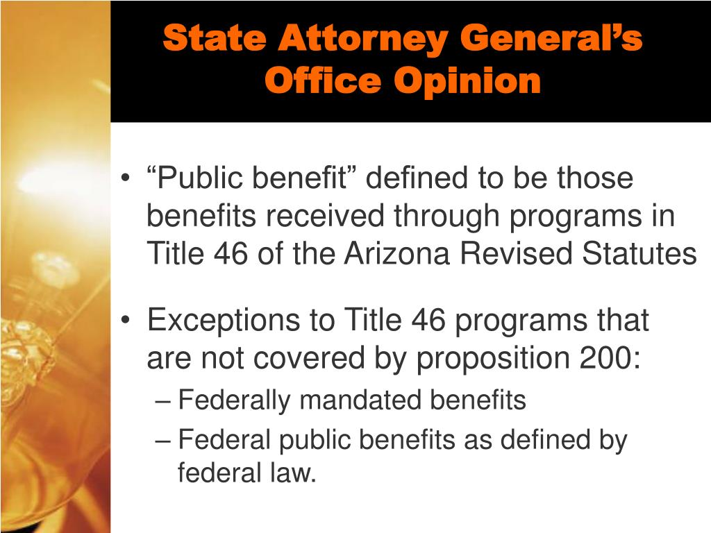State Attorney General's Office Opinion