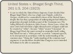united states v bhagat singh thind 261 u s 204 1923