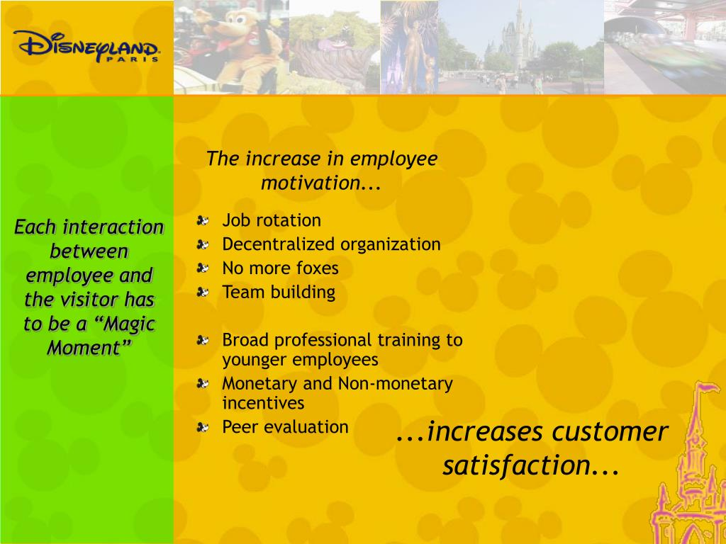 The increase in employee motivation...