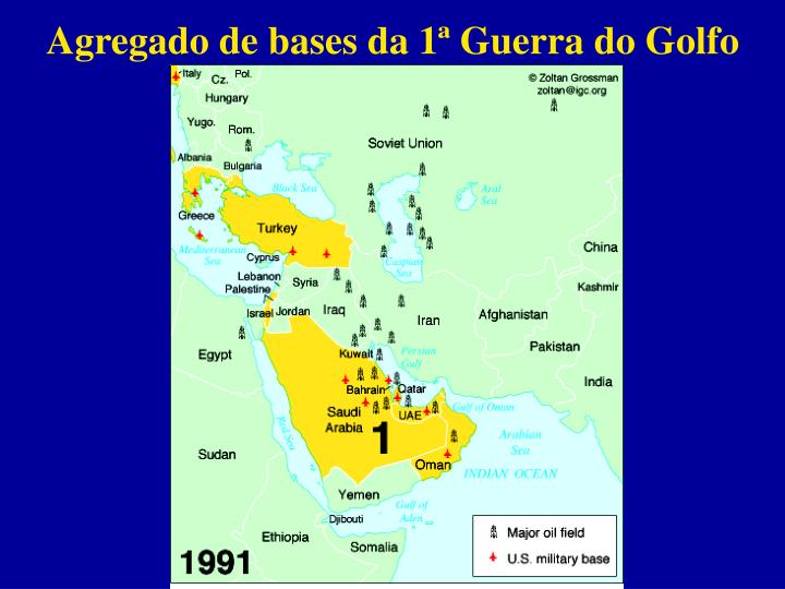 Agregado de bases da 1ª Guerra do Golfo