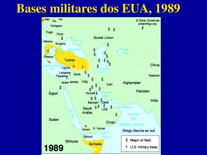Bases militares dos EUA, 1989