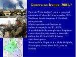 guerra no iraque 2003