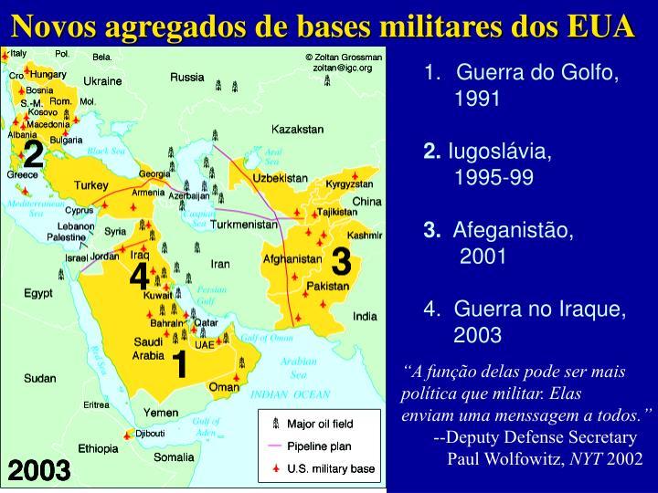 Novos agregados de bases militares dos EUA