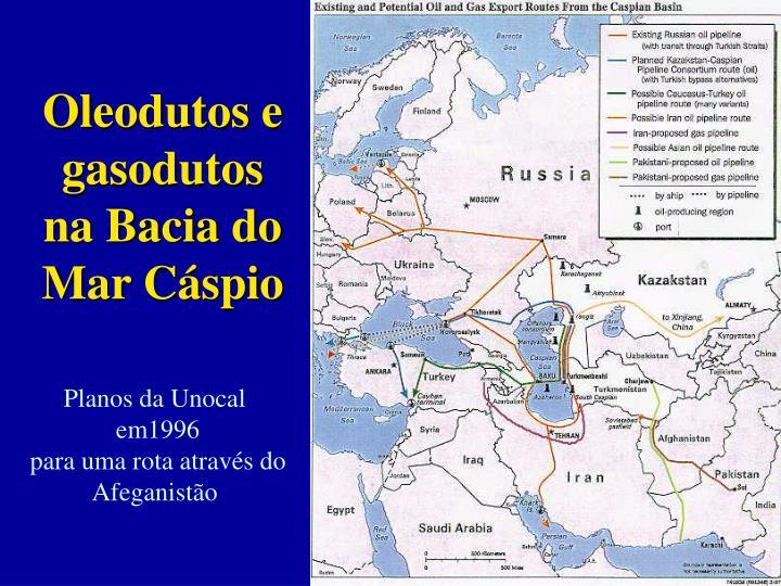 Oleodutos e gasodutos na Bacia do Mar Cáspio