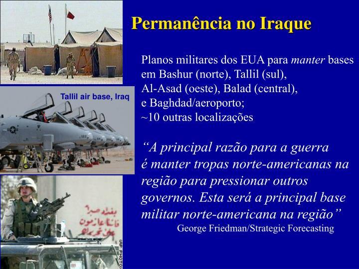 Permanência no Iraque