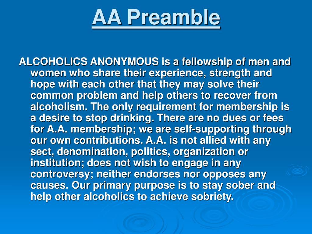 AA Preamble