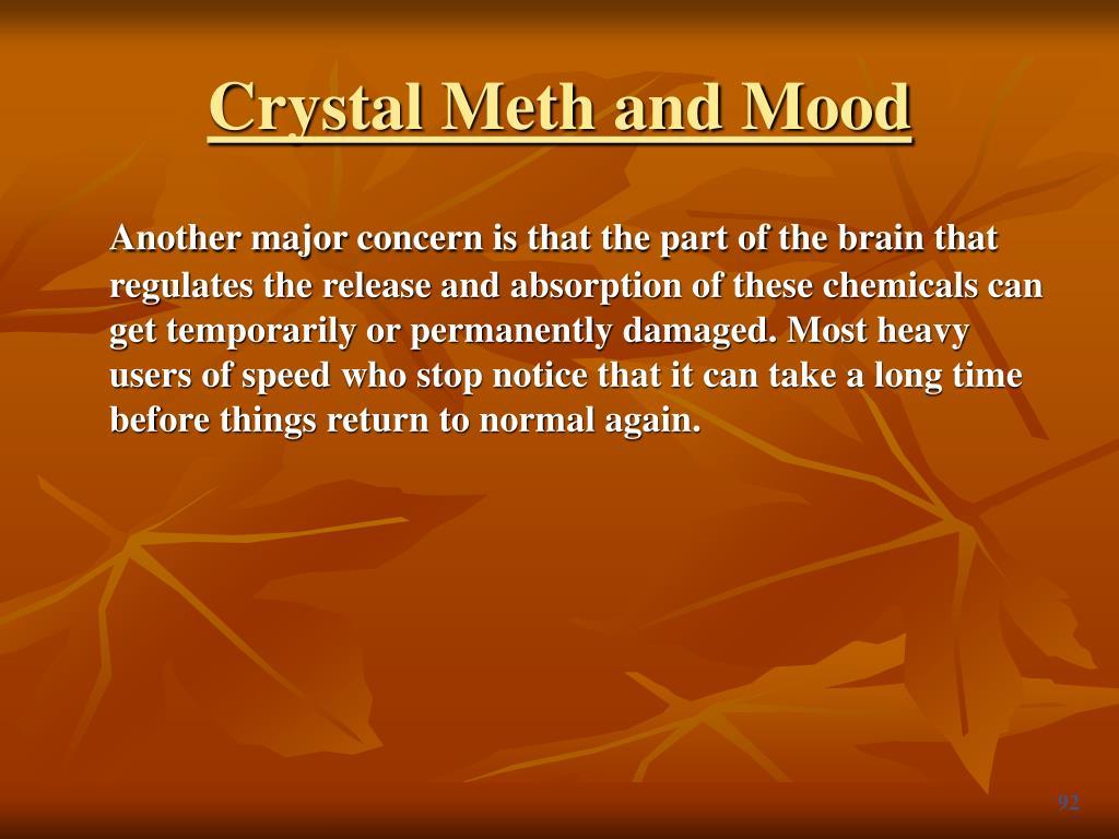 Crystal Meth and Mood