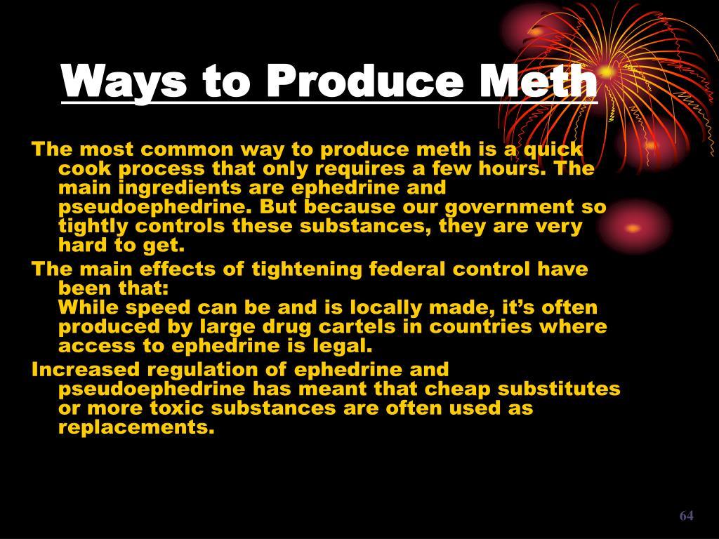 Ways to Produce Meth