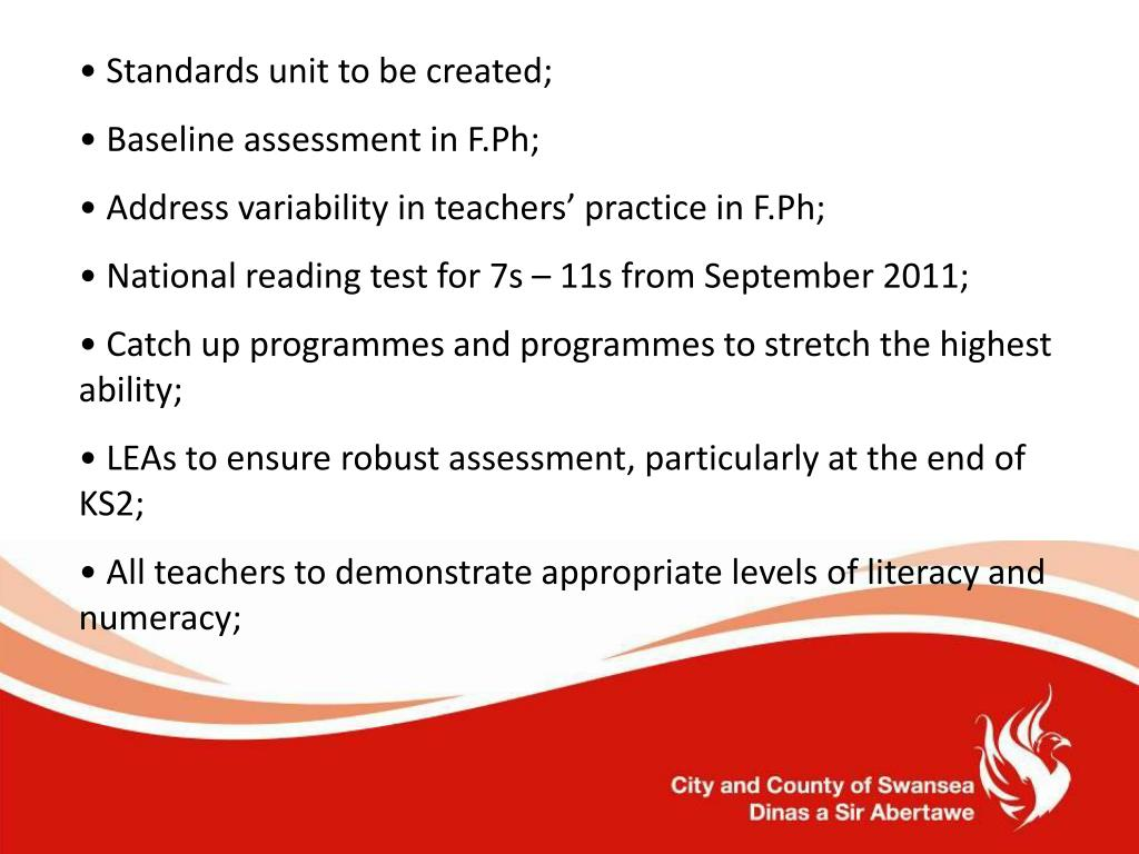 Standards unit to be created;