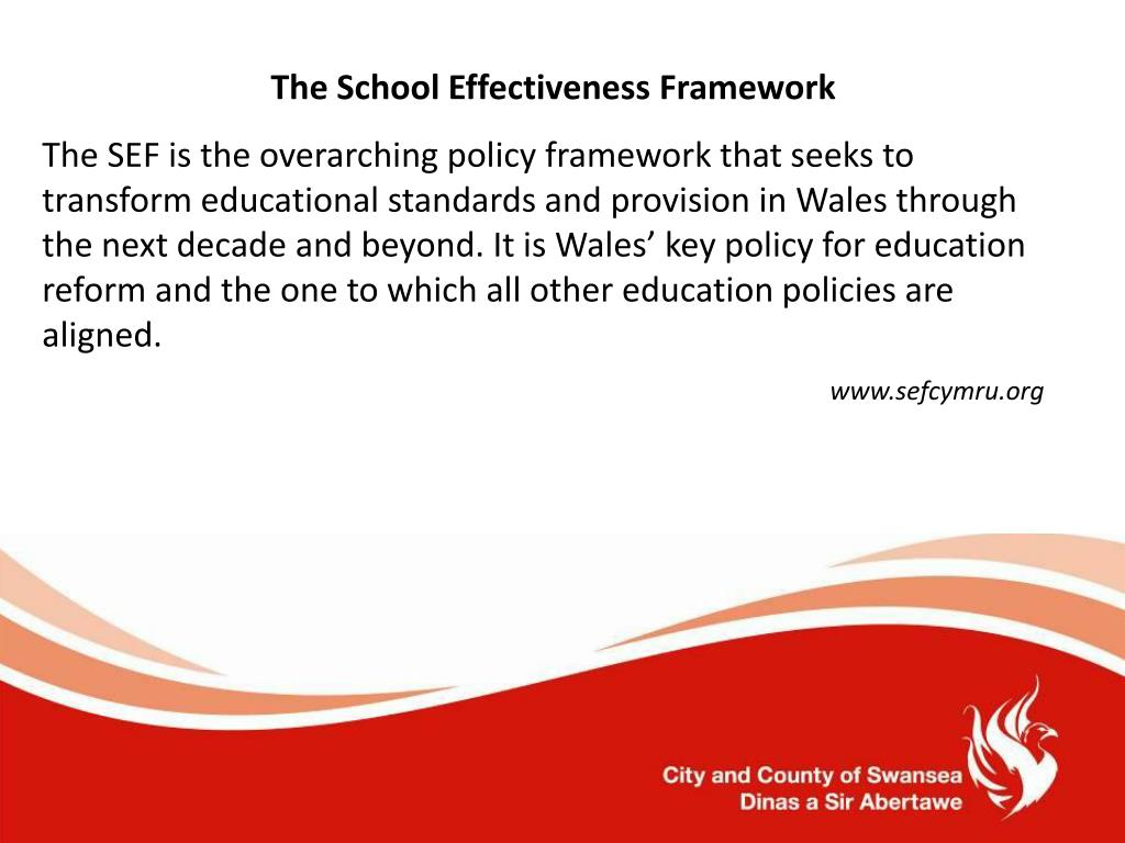 The School Effectiveness Framework