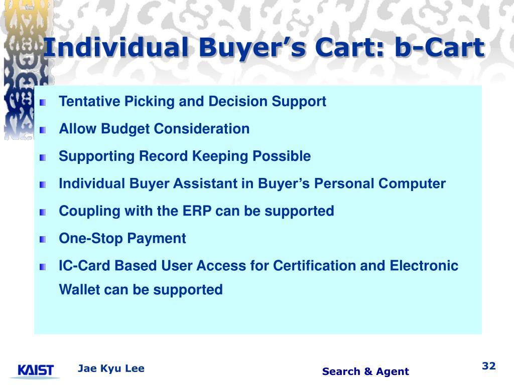 Individual Buyer's Cart: b-Cart