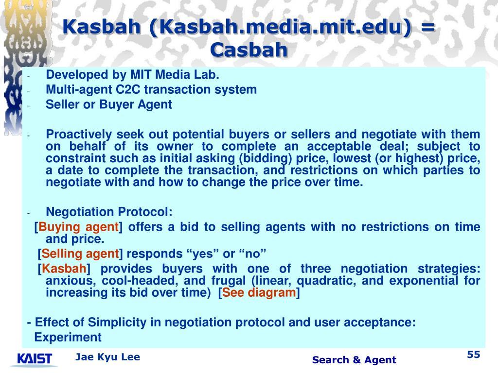 Kasbah (Kasbah.media.mit.edu) = Casbah