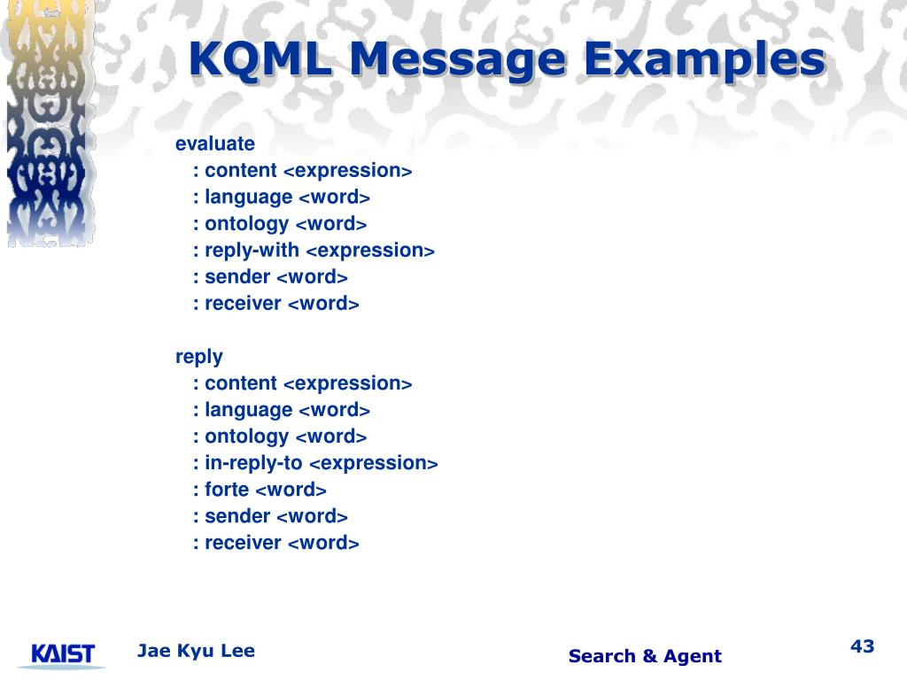 KQML Message Examples