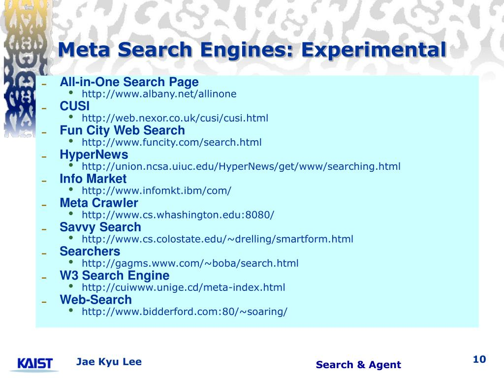 Meta Search Engines: Experimental