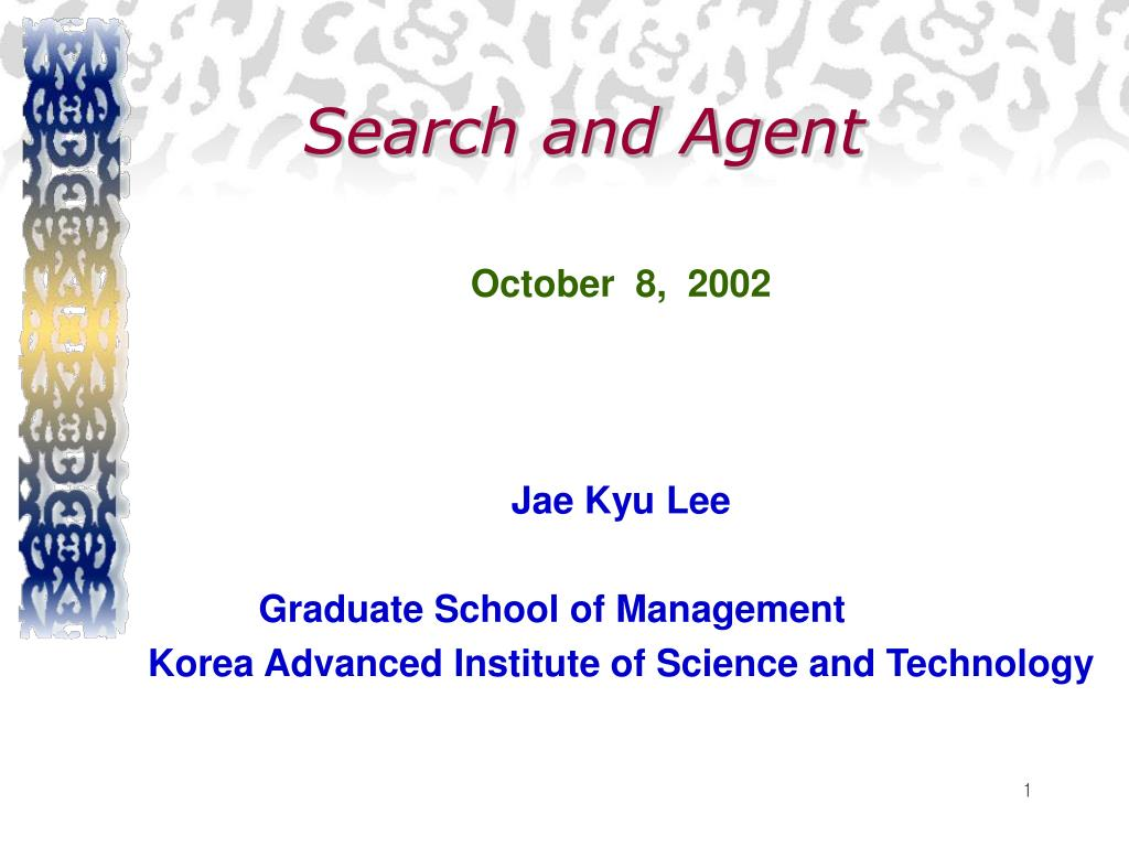 Search and Agent