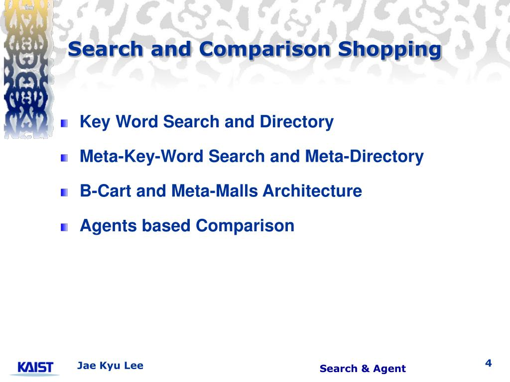 Search and Comparison Shopping