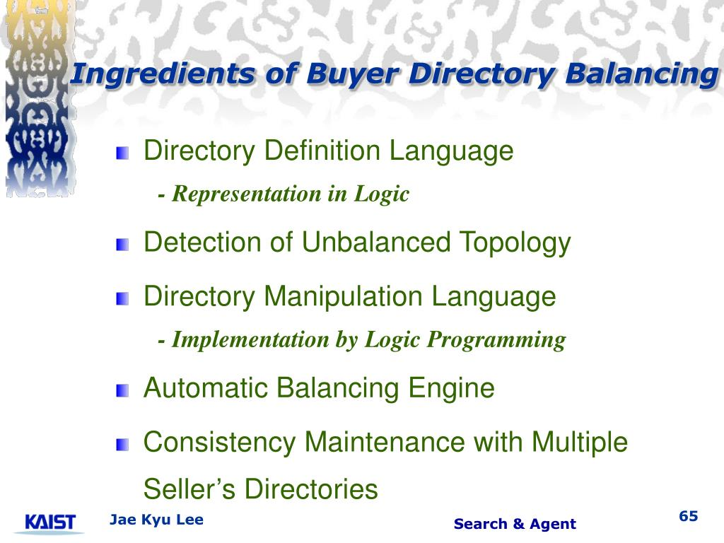 Ingredients of Buyer Directory Balancing
