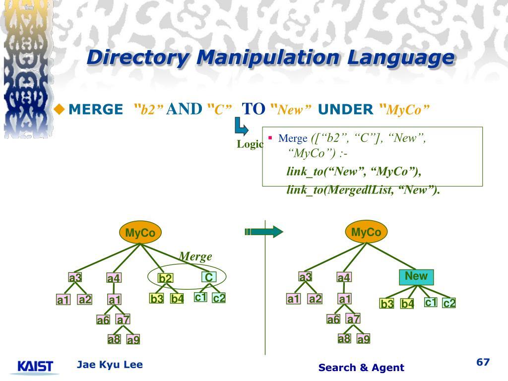 Directory Manipulation Language