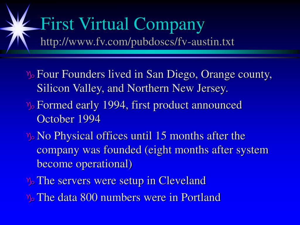 First Virtual Company