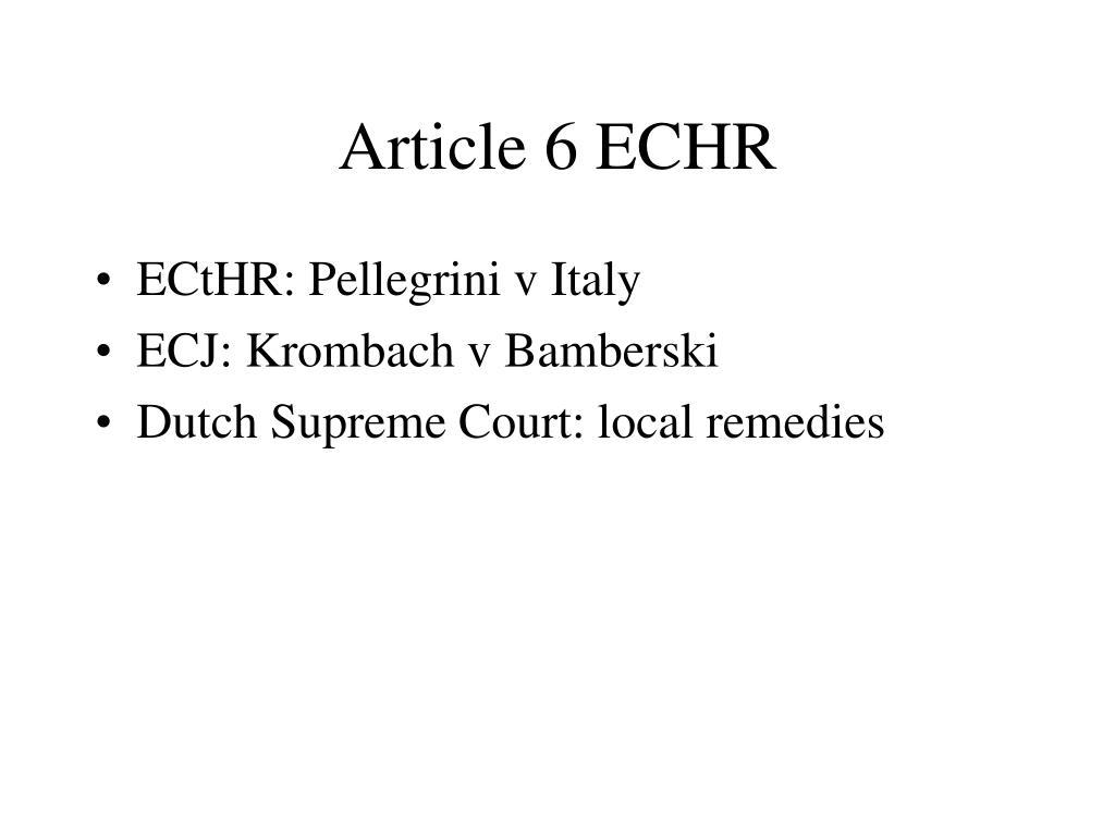 Article 6 ECHR