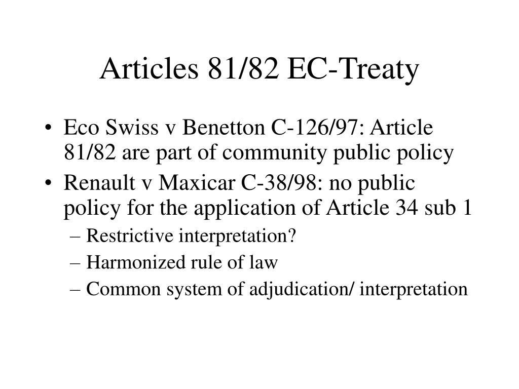 Articles 81/82 EC-Treaty