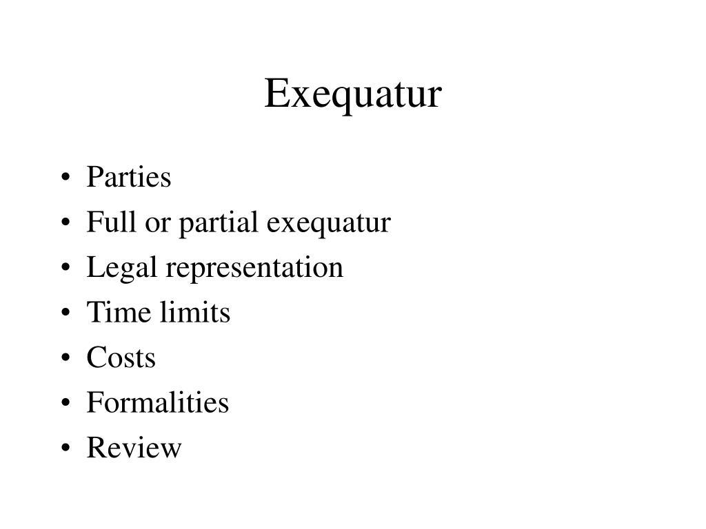 Exequatur