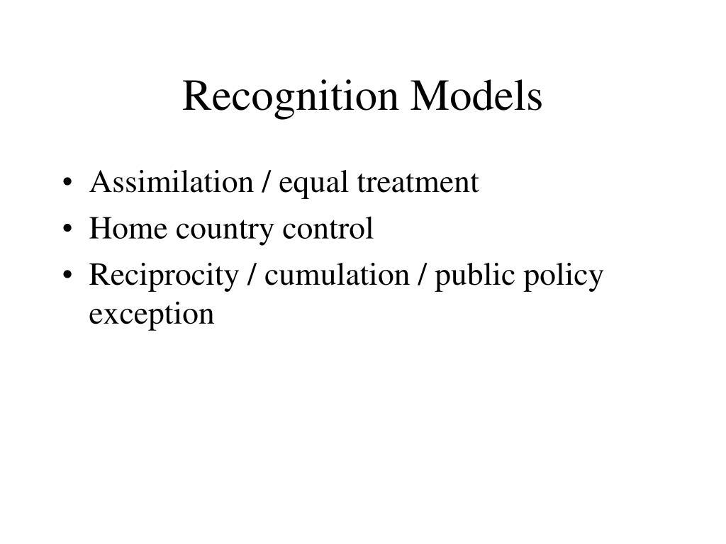 Recognition Models