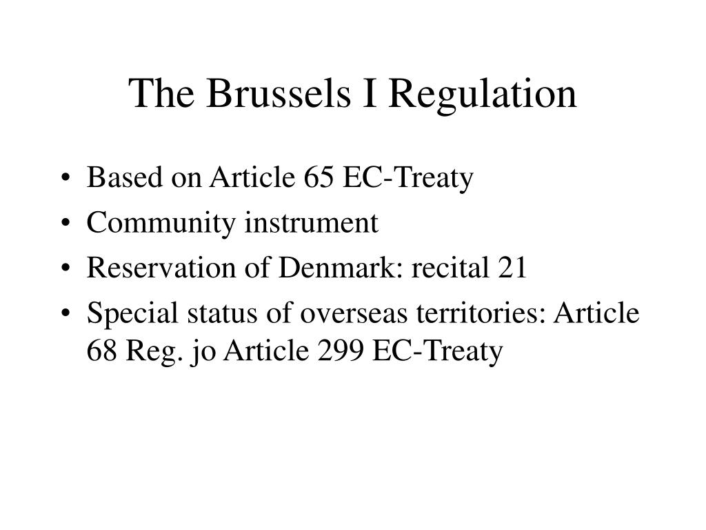 The Brussels I Regulation