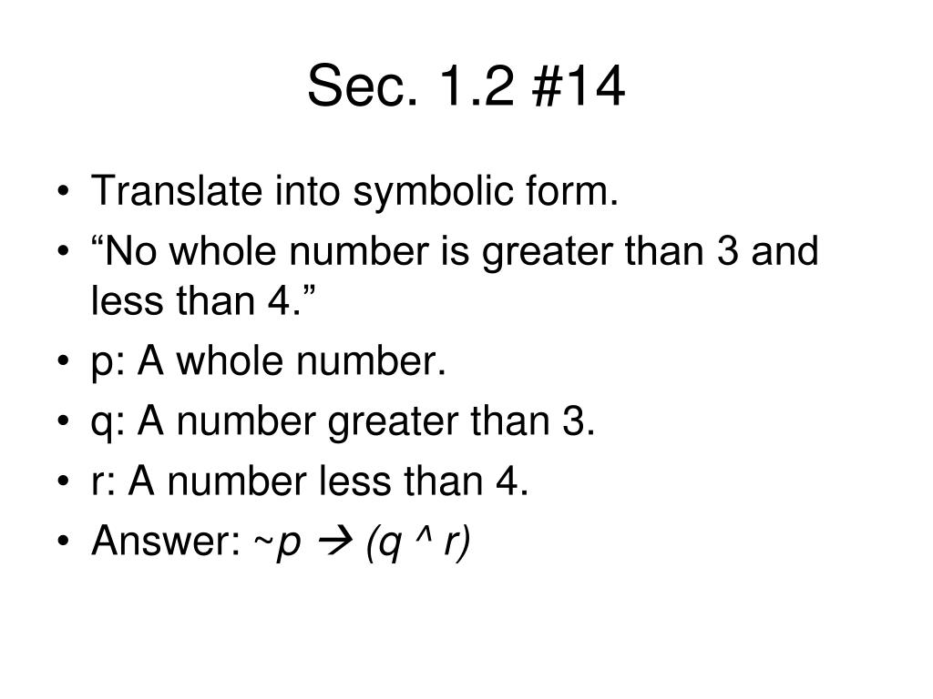 Sec. 1.2 #14