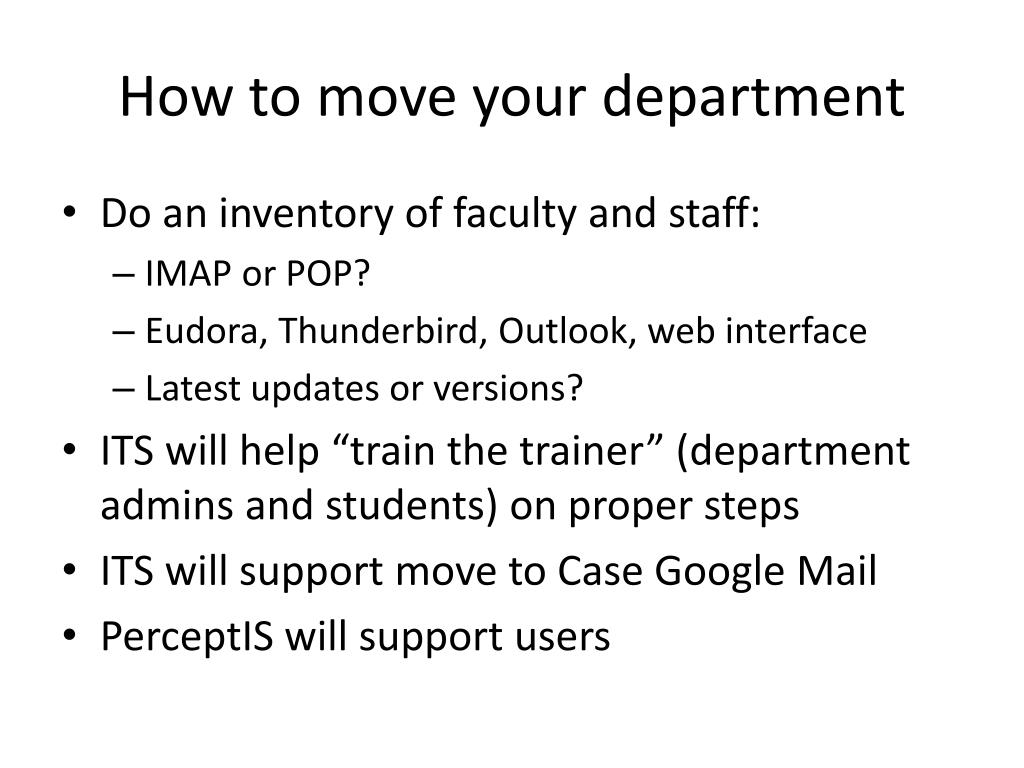 How to move your department