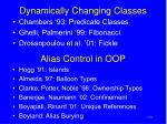 dynamically changing classes