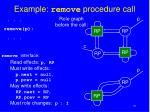 example remove procedure call