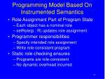 programming model based on instrumented semantics