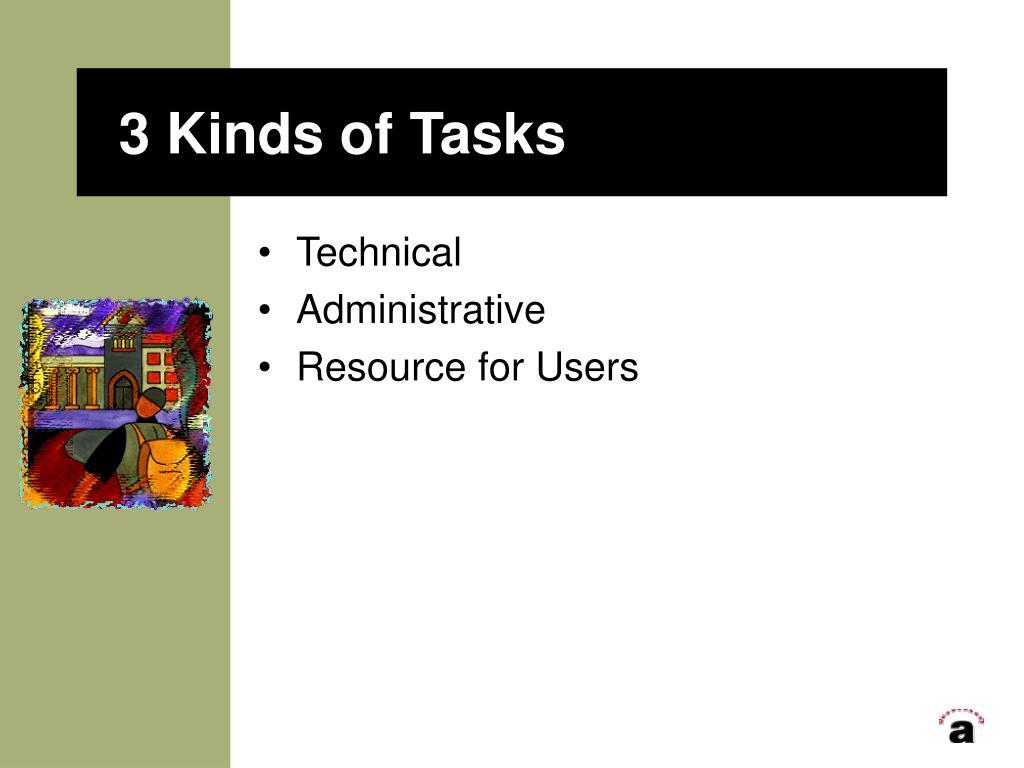 3 Kinds of Tasks