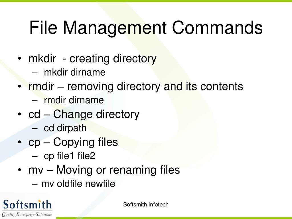 File Management Commands