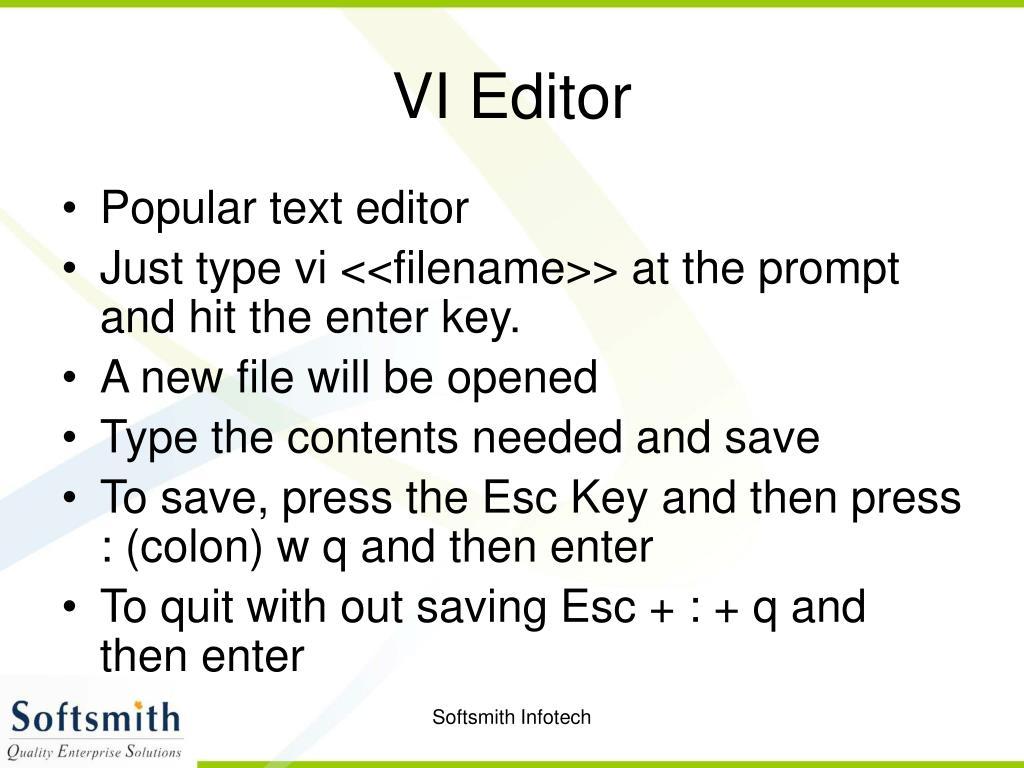 VI Editor