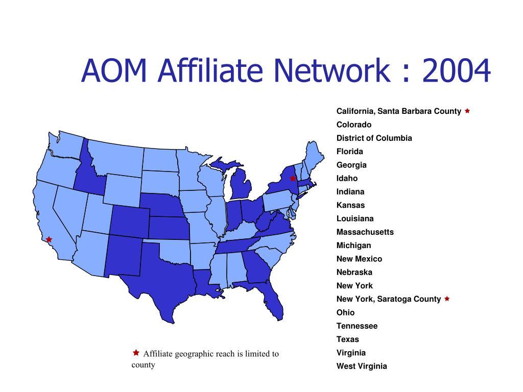 AOM Affiliate Network : 2004