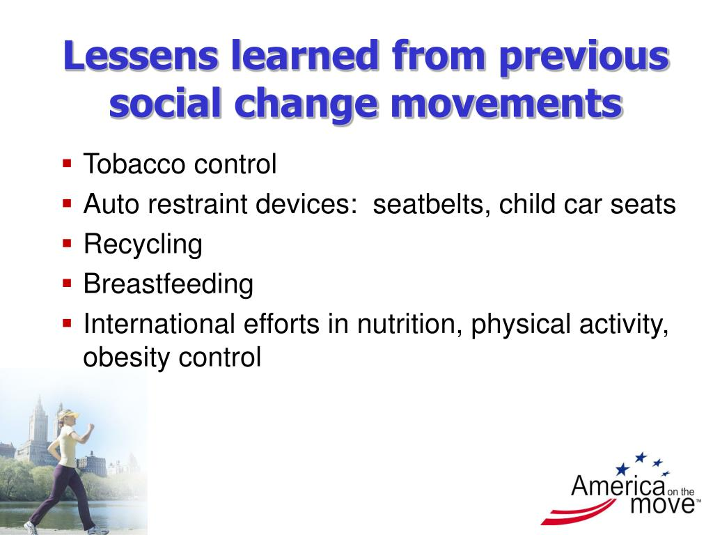 Lessens learned from previous social change movements