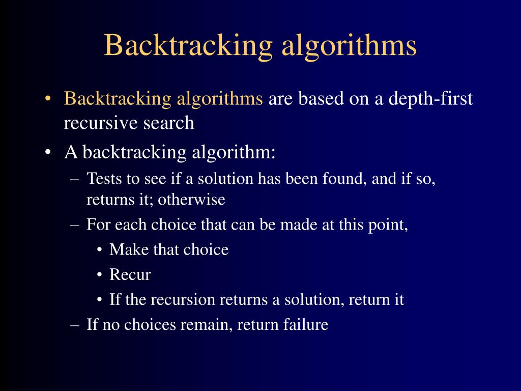 backtracking algorithms Category archives: backtracking minimize number of unique characters in string top 10 algorithms and data structures for competitive programming.