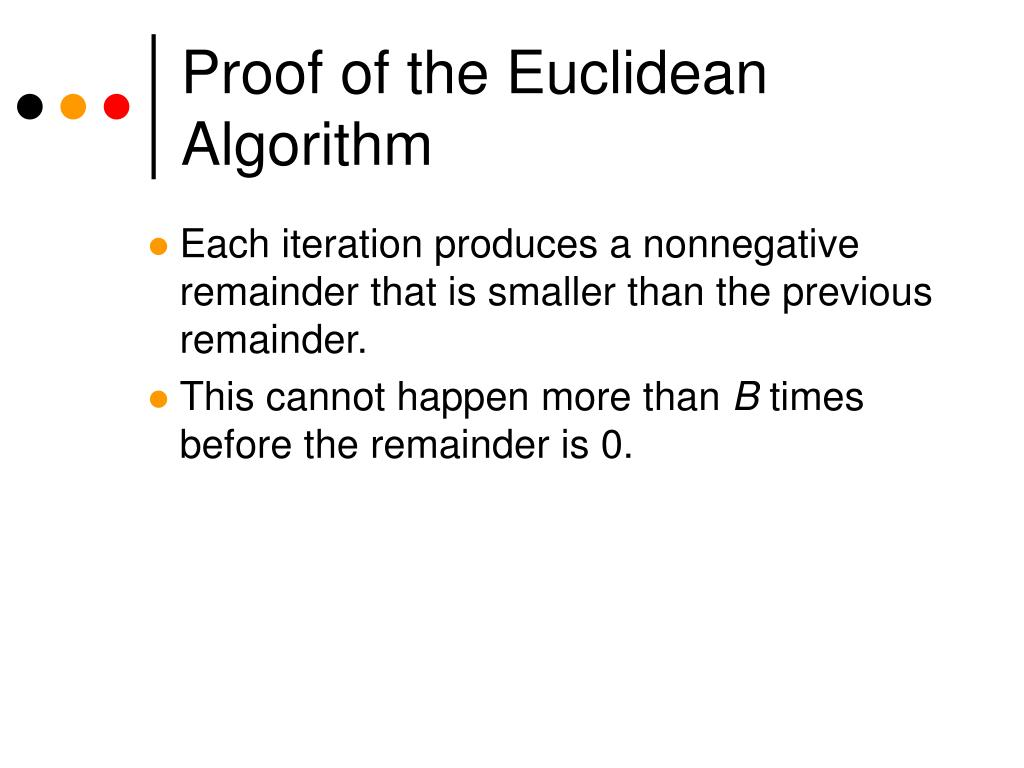Proof of the Euclidean Algorithm