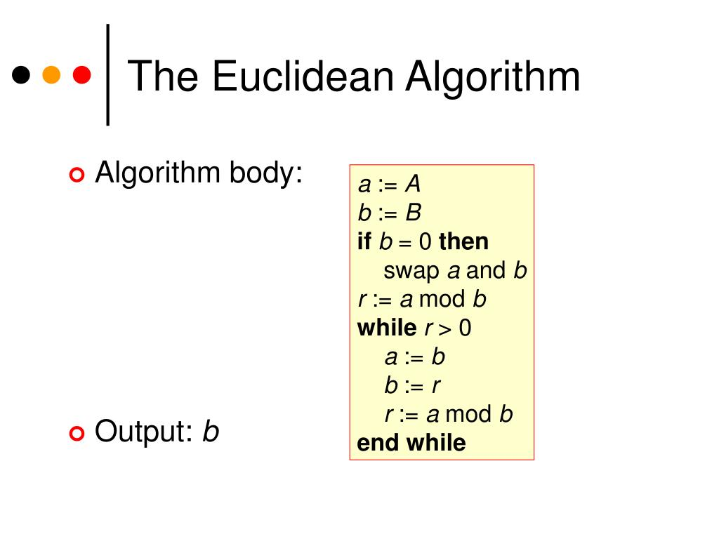 The Euclidean Algorithm