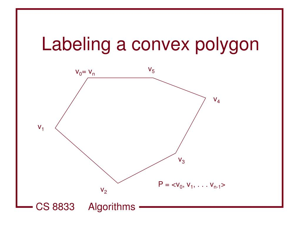 Labeling a convex polygon
