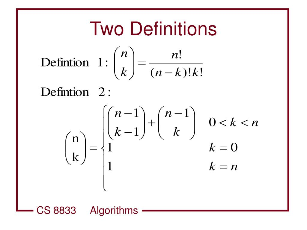 Two Definitions