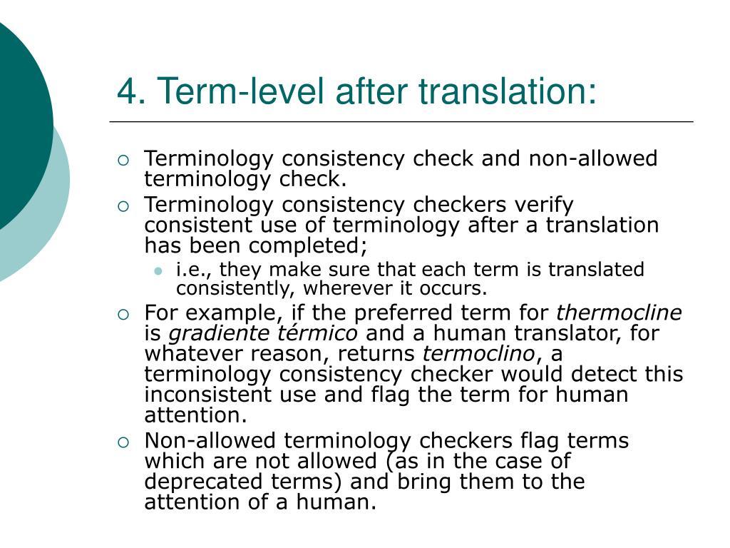 4. Term-level after translation: