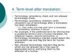 4 term level after translation
