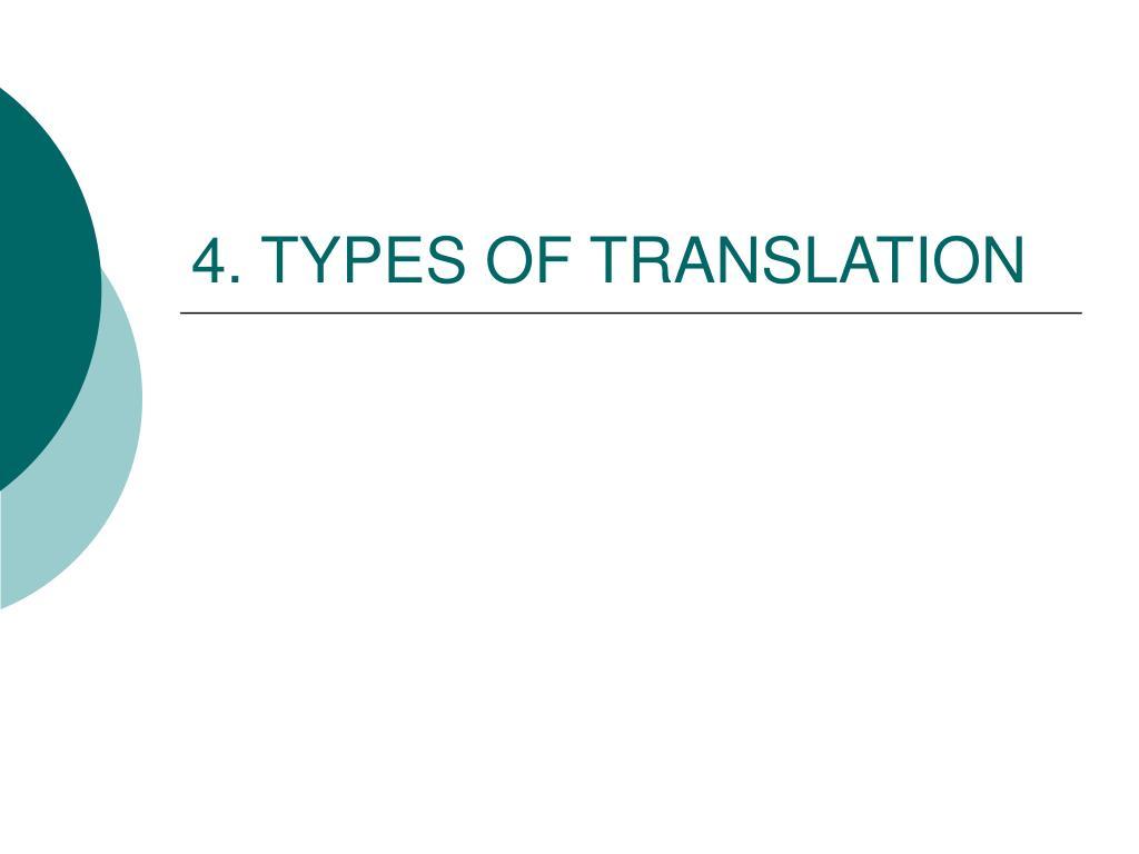 4 types of translation