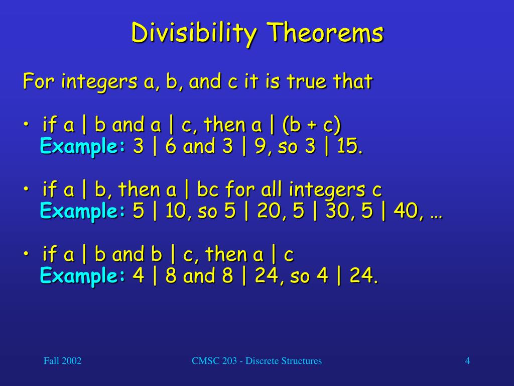 Divisibility Theorems