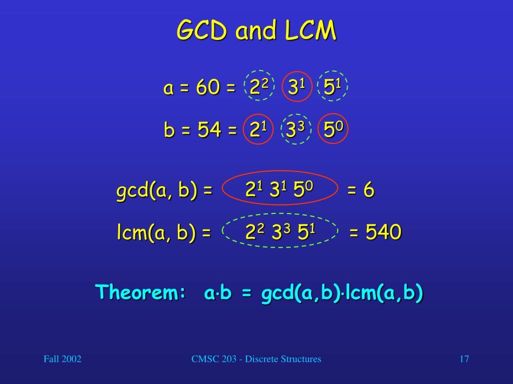 GCD and LCM